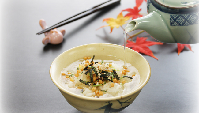 Тядзукэ (Отядзукэ) - миска риса с чаем и начинками