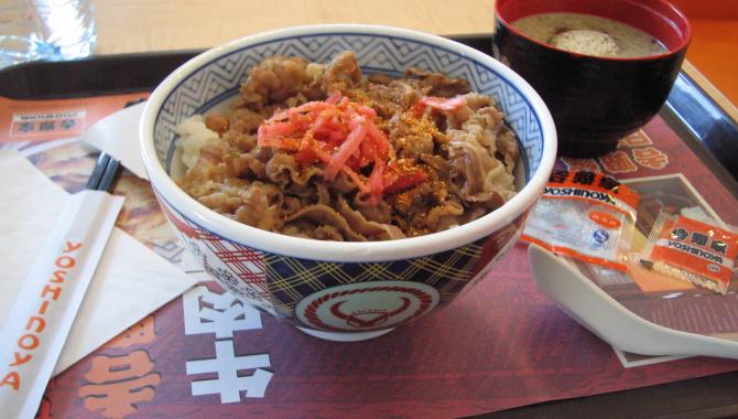 Гюдон - миска риса с говядиной