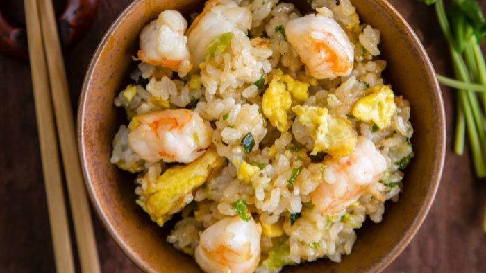 Жареный рис с креветками - пошаговый рецепт