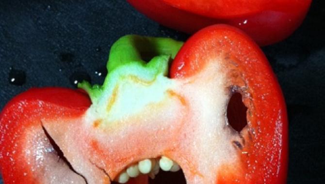 Ужасы вегетарианской диеты: нарезанный перец.