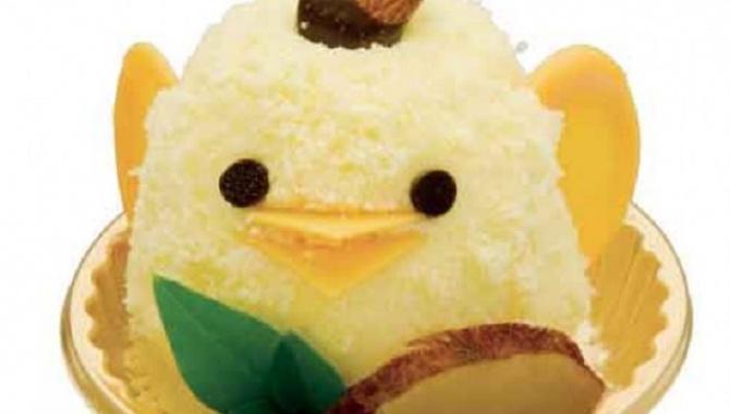 """Симпатичный и сладкий """"Цыпленок"""" из Нагойя."""