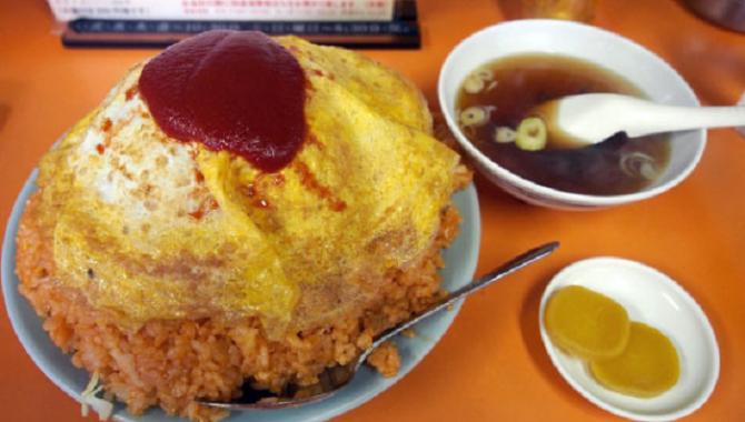 Огромный омлет (600 гр) в ресторане Токио