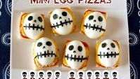 Маленькие тосты с черепами к Хэллоуину - Рецепт