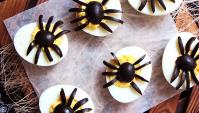 Пауки из яиц к Хэллоуину - пошаговый рецепт