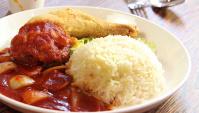 Жареная куриная ножка в томатном соусе с рисом - пошаговый рецепт