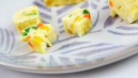 Яичные роллы с овощами - пошаговый рецепт