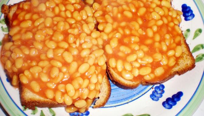 Бобы на тосте в Британском стиле - Рецепт