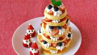 Рождественская ёлка из оладушков - Рецепт
