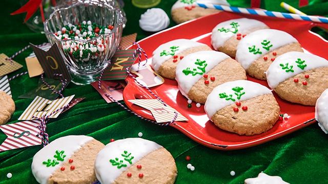 Рождественское овсяное печенье - Видео-рецепт