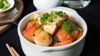 Гребешки с тофу и помидором - пошаговый рецепт