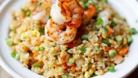 Жареный рис с креветками - Рецепт