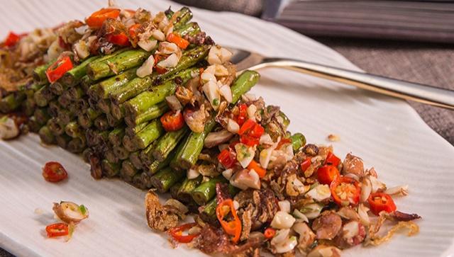 Жареная стручковая фасоль с арахисом - пошаговый рецепт