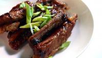 Тушеные свиные ребрышки - рецепт