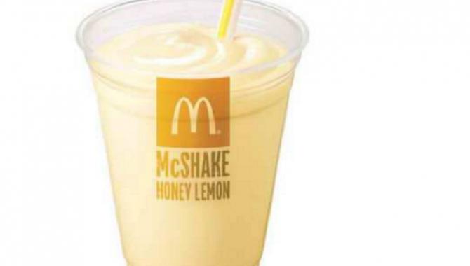 Японский МакДональдс начинает продажи лимонно-медовых коктейлей!