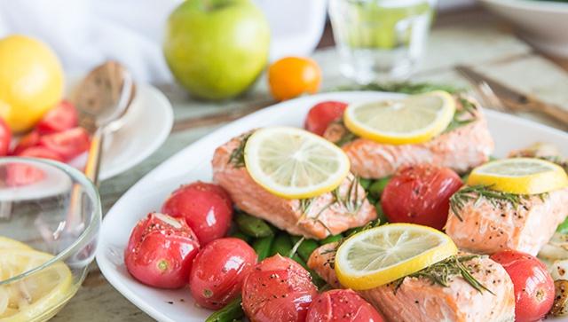 Запеченный лосось с лимоном - Рецепт