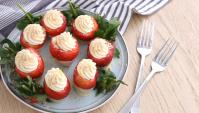 Клубника со сливочным сыром - пошаговый рецепт