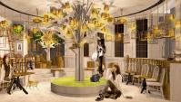 Ультра-модное Кошачье Кафе открывается в Токио.