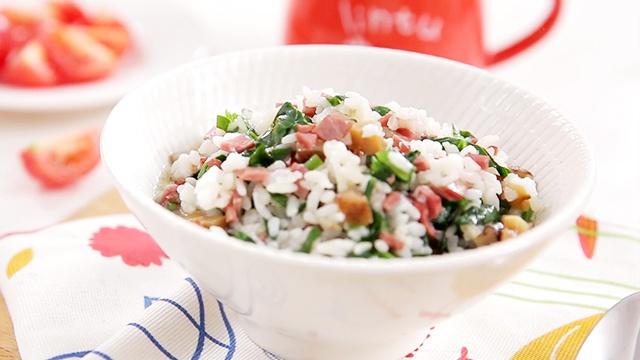Рис с грибами и шпинатом - пошаговый рецепт