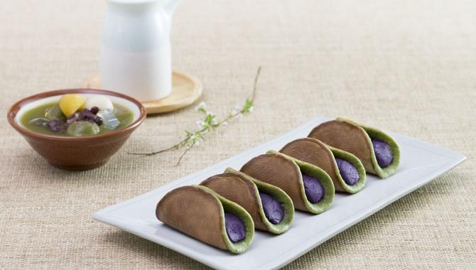Матча Дораяки с фиолетовым ямсом - пошаговый рецепт