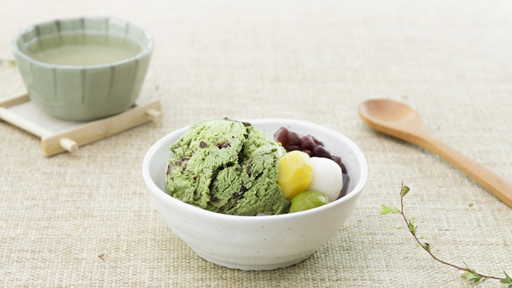 Мороженное с зеленым чаем матча и красными бобами - пошаговый рецепт