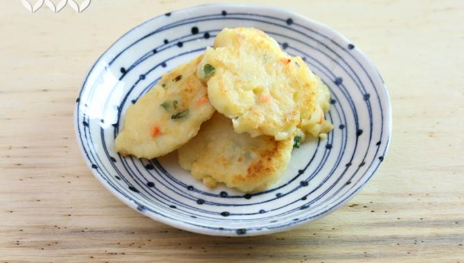 Лепешки из картофеля с тофу - пошаговый рецепт