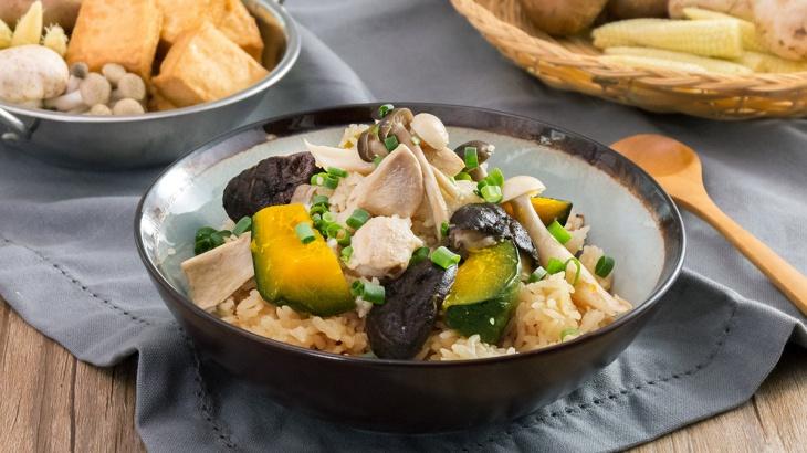 Рис с курицей, тыквой и грибами - пошаговый рецепт