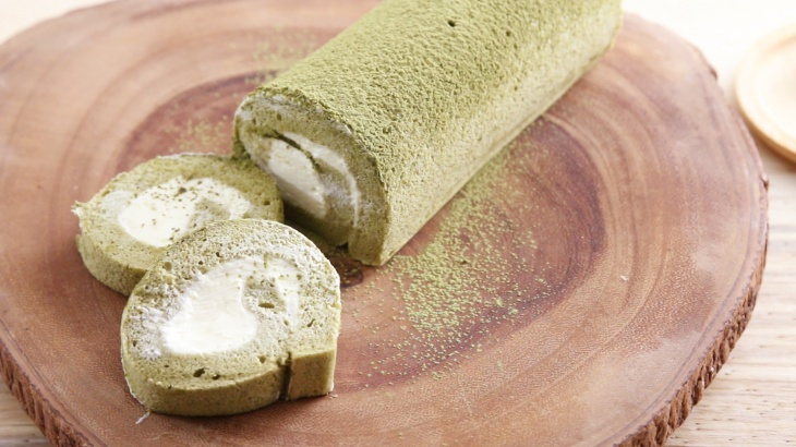 Рулет с зеленым чаем - пошаговый рецепт