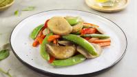 Грибной салат с черным рисовым уксусом - пошаговый рецепт