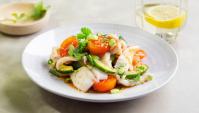 Острый салат их кальмаров - пошаговый рецепт