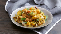 Креветки с карри и манго - пошаговый рецепт