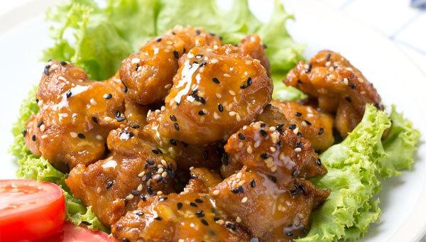 Курица с кунжутом - Рецепт