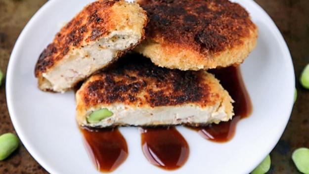Котлеты из тофу с эдамаме - пошаговый рецепт