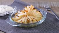 Запечённый лук в виде цветка - пошаговый рецепт