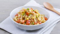 Салат из макарон с заправкой Вафу - пошаговый рецепт