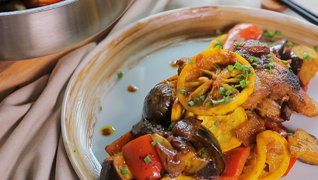 Курица с овощами - пошаговый рецепт