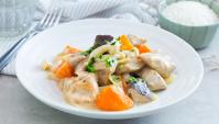 Курица с грибами, сыром и сио кодзи - пошаговый рецепт