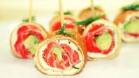 Блинчики с лососем, сливочным сыром и авокадо ✌ Легкие Закуски