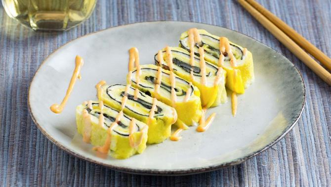Тамагояки с сыром и нори - пошаговый рецепт
