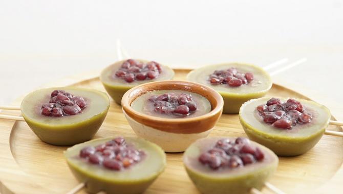 Пудинг с матча и красными бобами - пошаговый рецепт