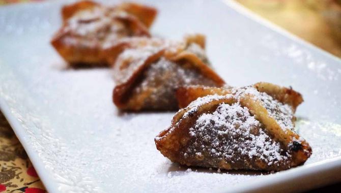 Хрустящие вонтоны с бобами адзуки - Рецепт