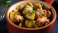 Жареные осьминоги с картофелем - пошаговый рецепт