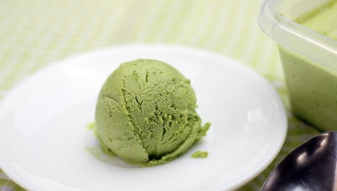 Мороженое с зеленым чаем матча - рецепт