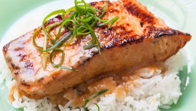 Запеченный лосось с пастой мисо - Рецепт