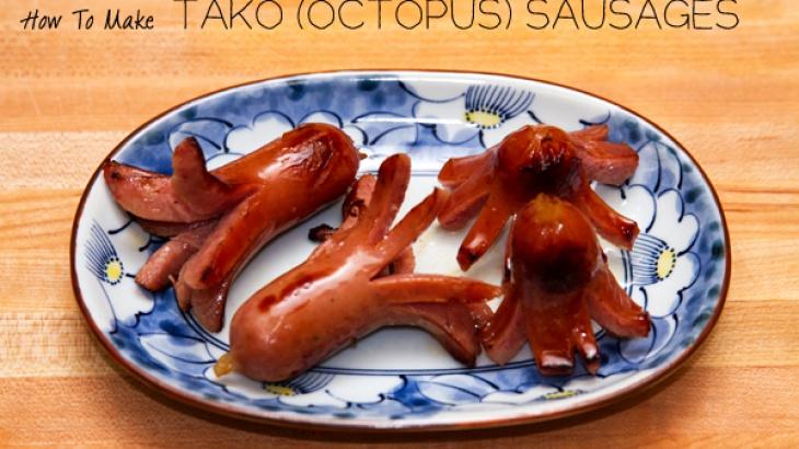 Сосиски в виде осьминогов - рецепт