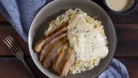Лапша со свининой и сырным соусом - пошаговый рецепт