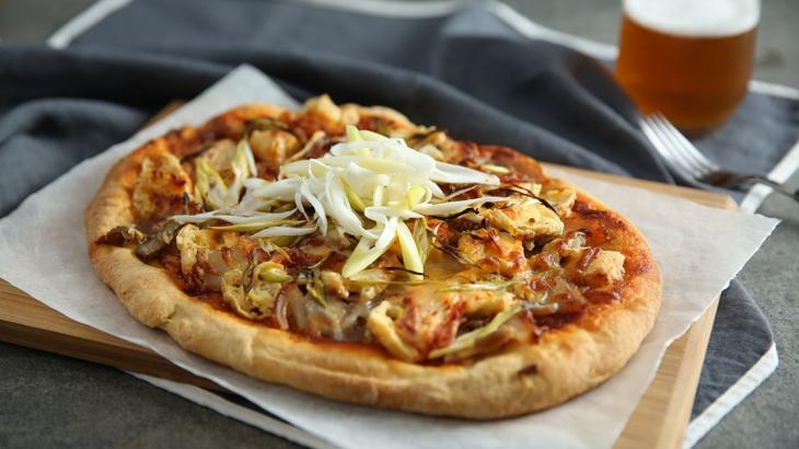 Пицца с жареной свининой и тофу - пошаговый рецепт
