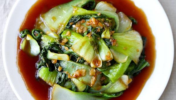 Бок Чой с чесноком и устричным соусом - пошаговый рецепт
