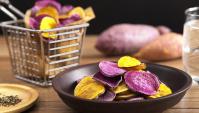 Чипсы из фиолетового ямса и батата - пошаговый рецепт