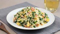 Жареный рис с беконом и капустой кале - пошаговый рецепт