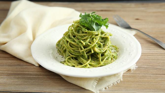 Спаггети с кале песто - пошаговый рецепт